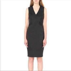 Ted Baker Black Sleeveless Midi Silk Lined Dress